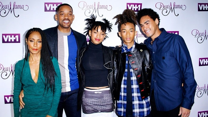 Will and Jada with their children.
