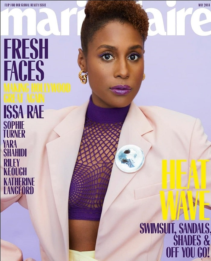 Issa Rae on front page of magazine.