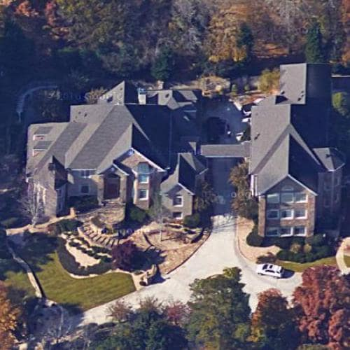 A picture of Kandi Burruss' house.