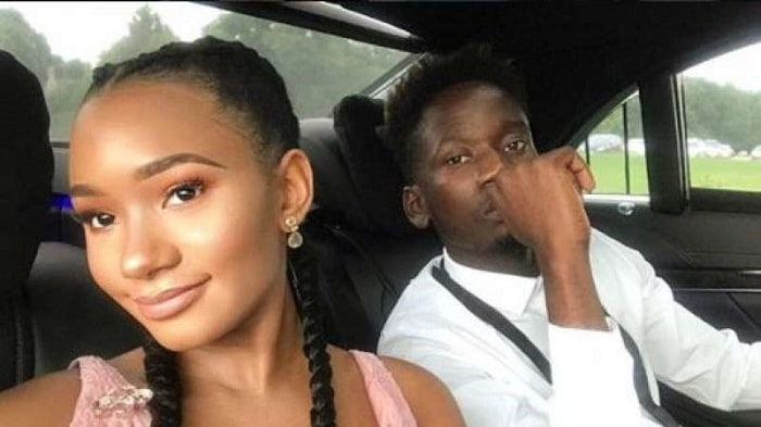Mr. Eazi is on a long drive with his girlfriend Temi Otedola.