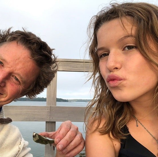 A picture of Billy Bush with his youngest daughter, Lillie.