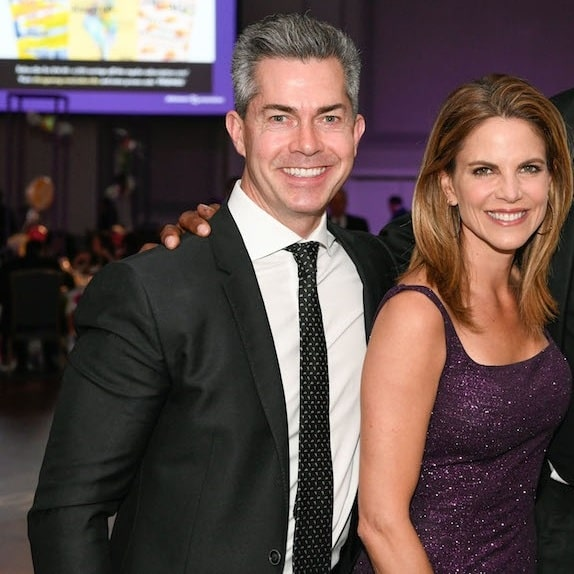 A picture of Natalie Morales with her husband, Joe Rhodes.
