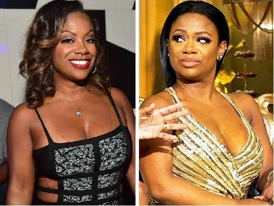 A picture of Kandi Burruss before and after plastic surgery.