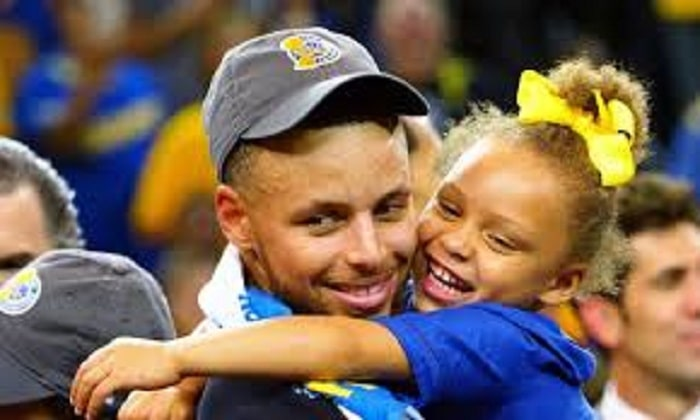 NBA star Steph Curry with his daughter Riley