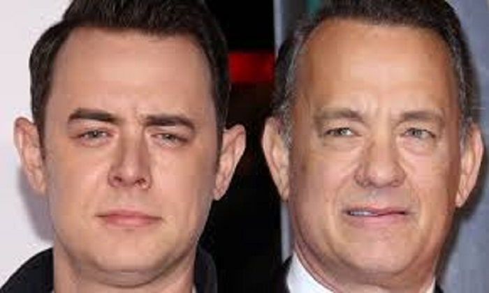 The handsome lookalike father and son, Tom Hanks and Colin Hanks.