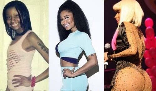 A picture of Nicki Minaj looking very much different.