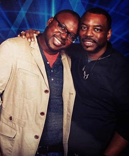 A picture of LeVar Burton with his son, Eian Ward Burton.