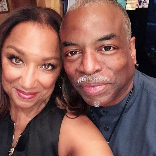 A picture of LeVar Burton with his wife, Stephanie Cozart Burton.