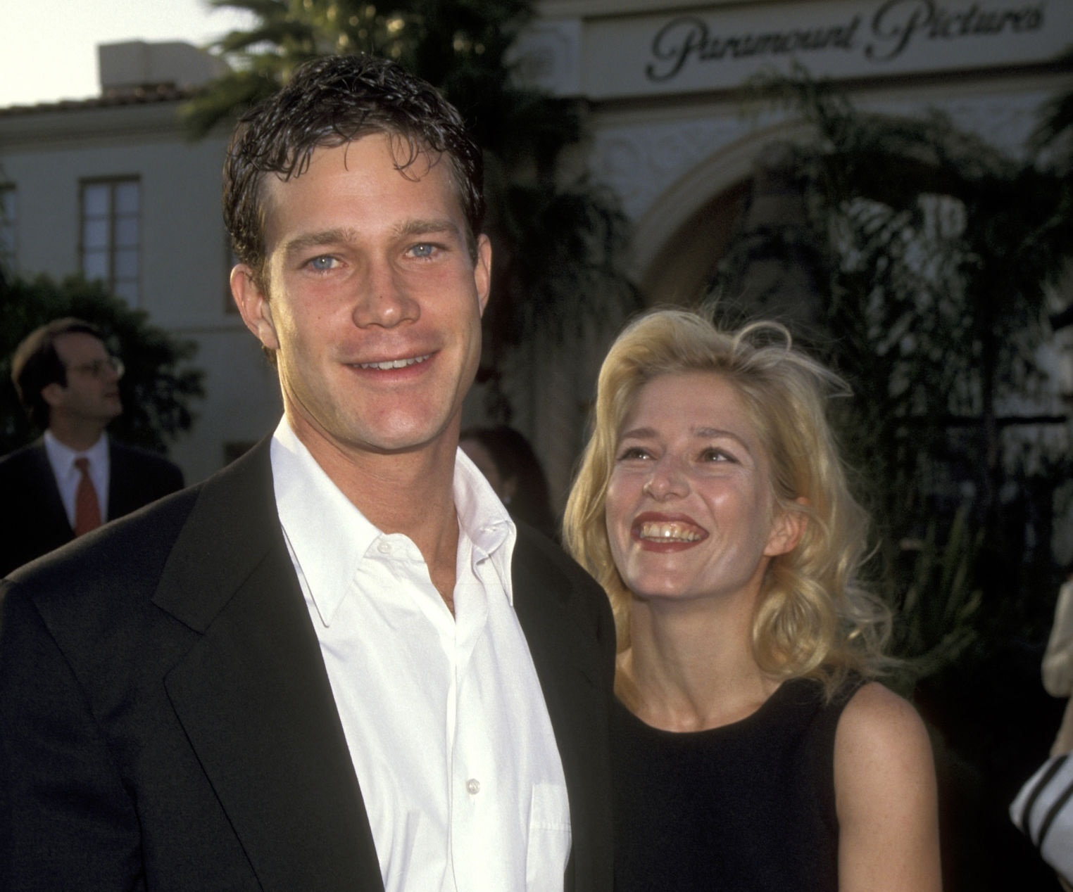 "Melora Walters with her husband Dylan Walsh during ""Congo"" Los Angeles Premiere."
