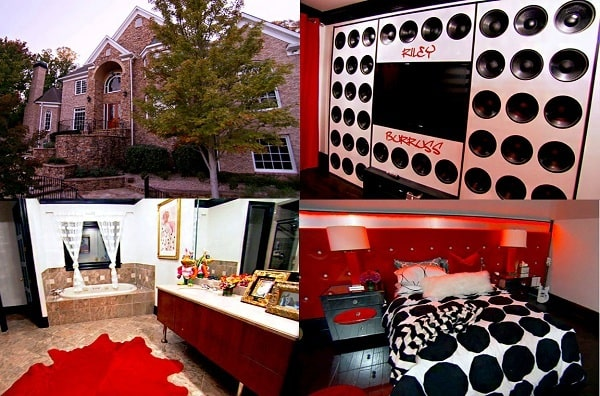A picture of Kandi Burruss' luxurious house in Southwest Atlanta.