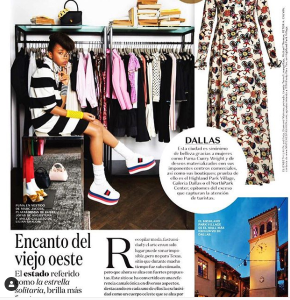 Puma Sabti curry look stunning on a photo of Vogue Mexico.