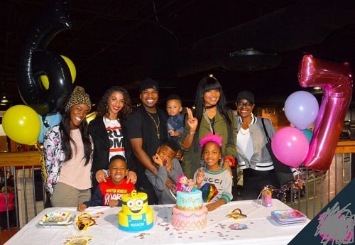 A picture of the joint birthday celebration of Madilyn and her brother, Mason.
