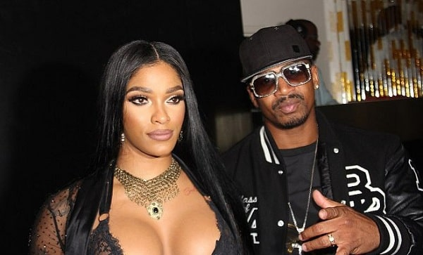A picture of the ex-couple of Joseline Hernandez and Stevie J.