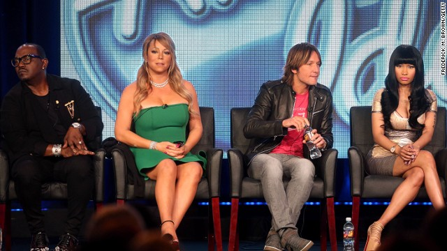 Mariah Carey has been capture with other judges of American Idol.