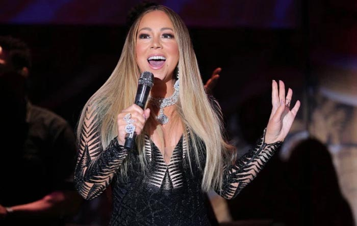 Mariah Carey performing live in Cannes