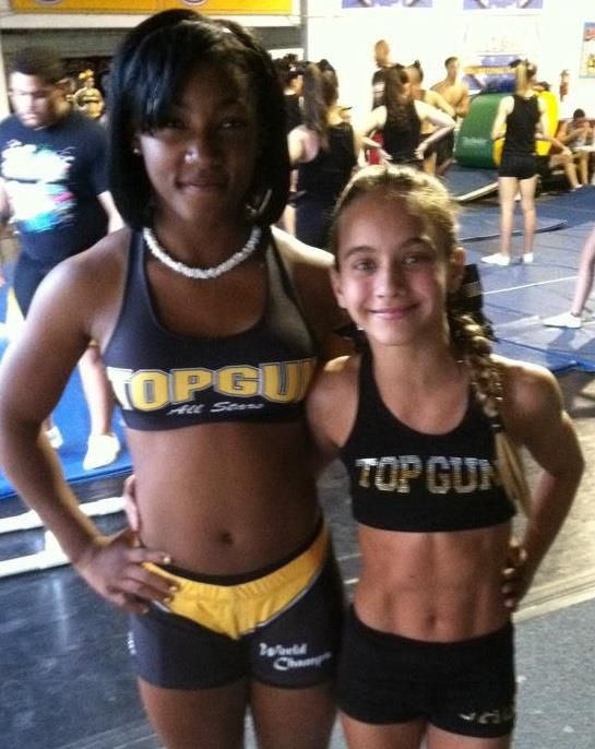 Angel Rice taking a picture with Gabi Butler.