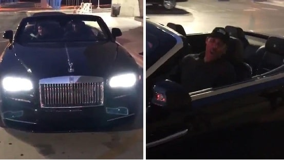 A picture of LaVar Ball's Rolls-Royce gifted by his eldest son, Lonzo Ball.