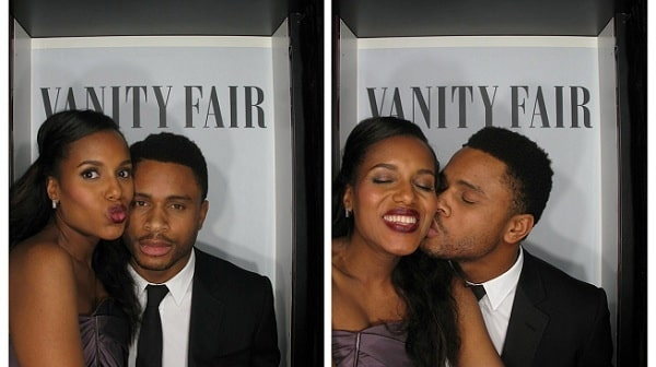 A picture of lovely couple of Kerry Washington and her husband, Nnamdi Asomugha.