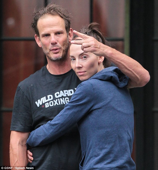 Whitney Cumming with her ex-boyfriend Peter Berg.