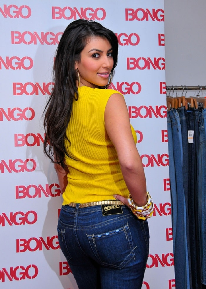 Not much change can be seen on Kim K's butt from 2007