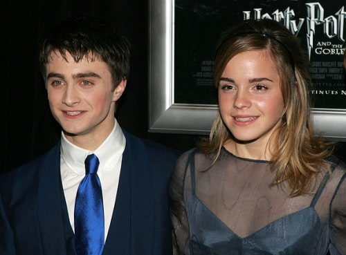 A picture of Daniel Radcliffe and Emma Watson.