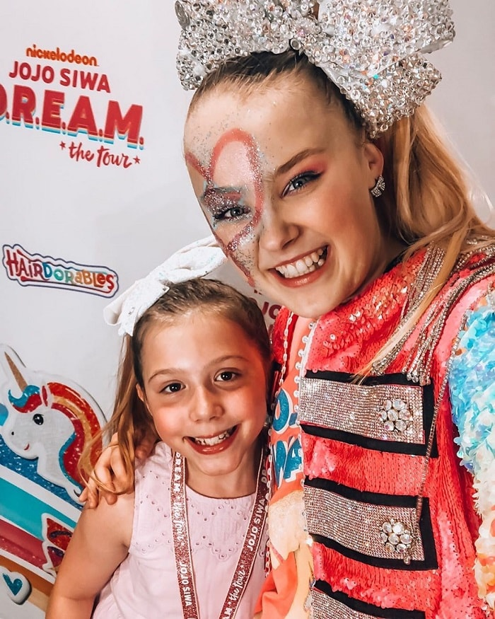 When Audrey met Jojo Siwa.