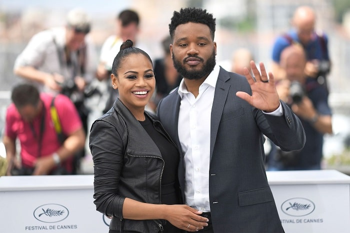 The rich and married couple in Cannes- Zinzi Evans and Ryan Coogler.