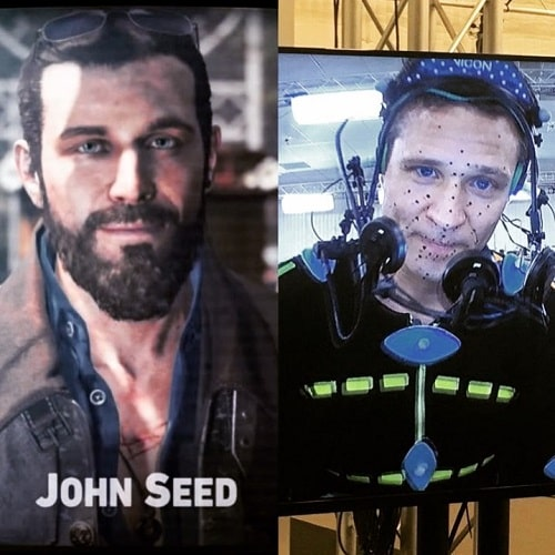 A picture of Seamus Dever playing the role of John Seed in Far Cry 5.