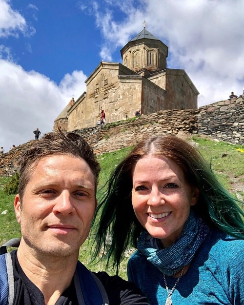 A picture of Seamus Dever with his wife, Juliana Dever.