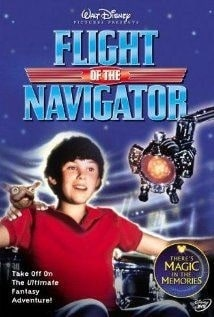A picture of Joey Cramer in Flight of the Navigator poster.