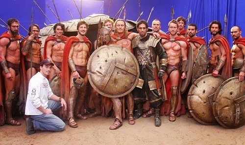 A picture of Patrick Sabongui in the suiting of 300.