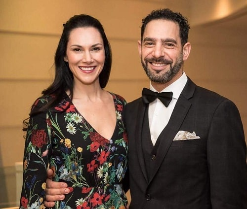 A picture of Patrick Sabongui with his wife, Kyra.