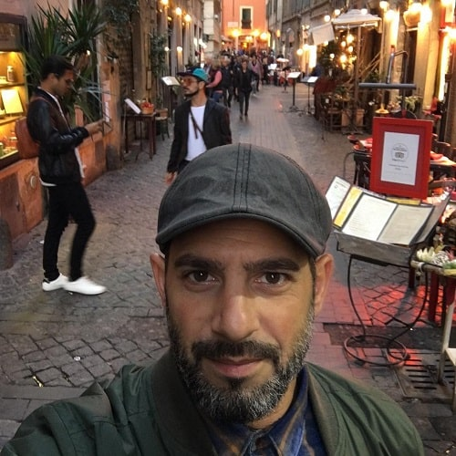 A picture of Patrick in Roma.