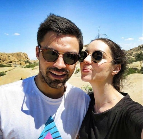 A picture of Sean Teale with his ex-girlfriend Adelaide Kane.