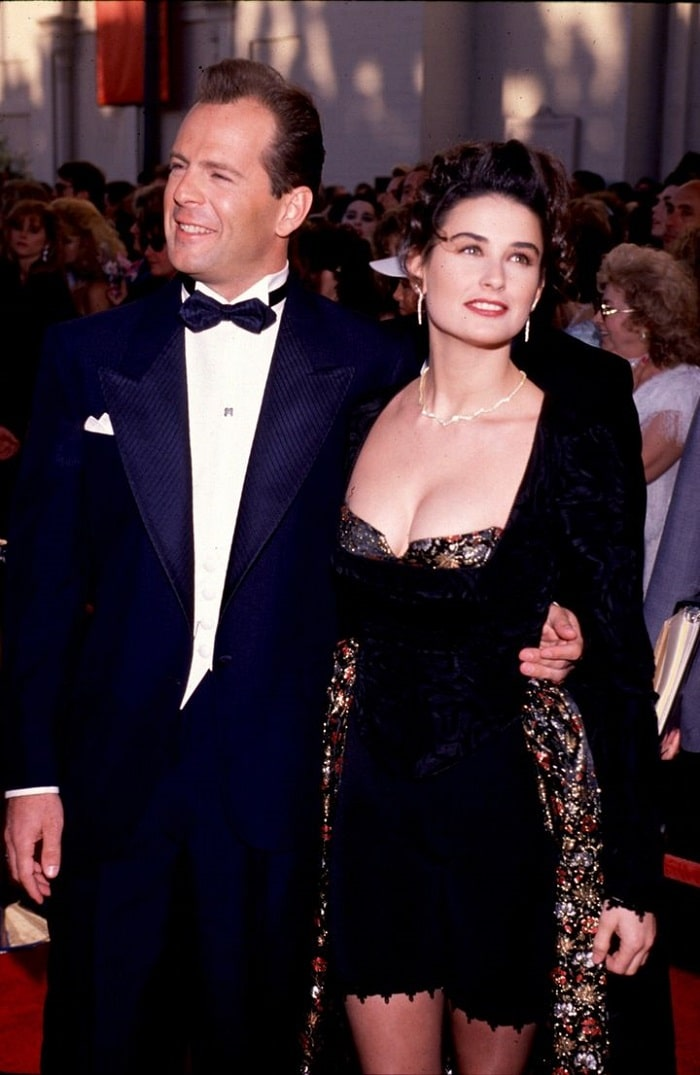 Rumer's divorced parents- Bruce Willis and Demi Moore.