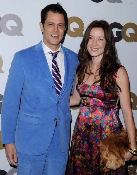 Johnny Knoxville and Naomi Nelson attending GQ event.
