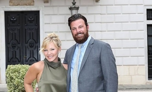 A picture of Kelli Giddish with her husband, Lawrence Faulborn.