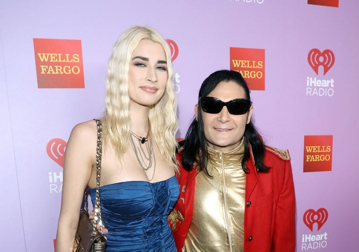Corey Feldman with his wife Courtney Anne Mitchell in iHeart radio.