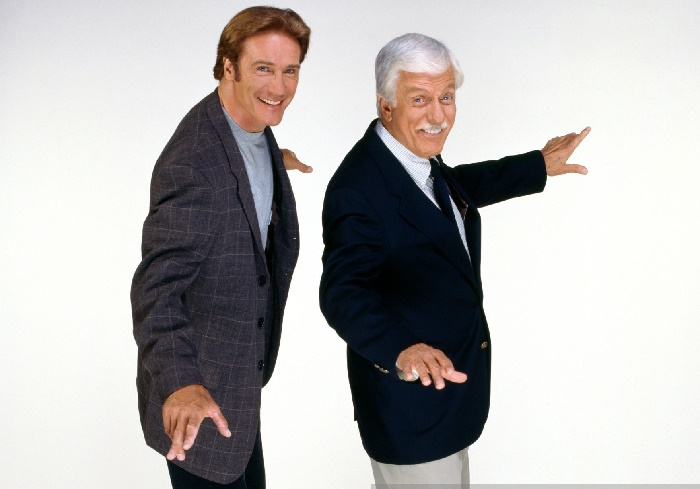 Dick Van Dyke and his son Barry Van poses for a picture.