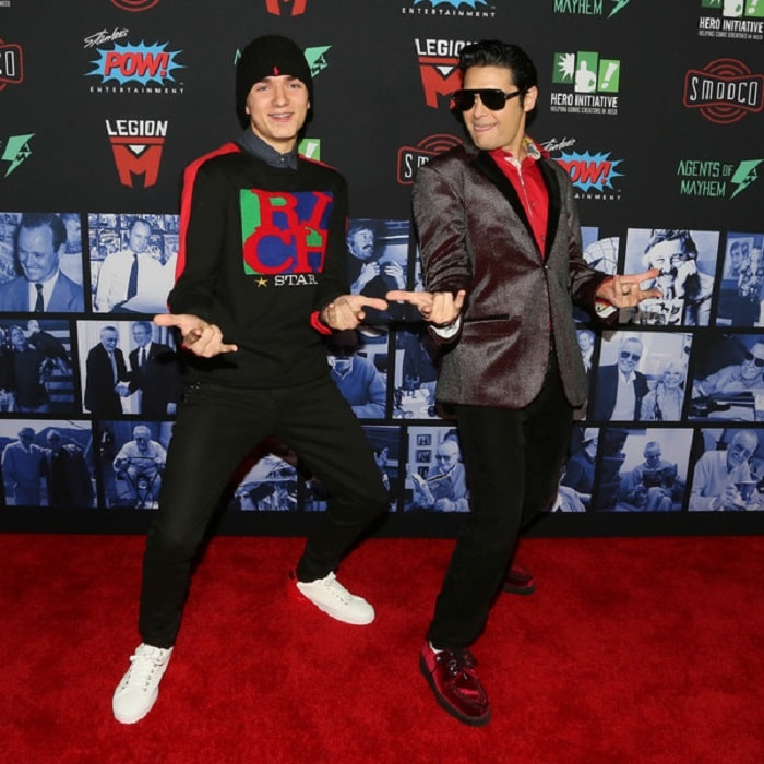Zen and Corey at Stan Lee's Life Celebration.