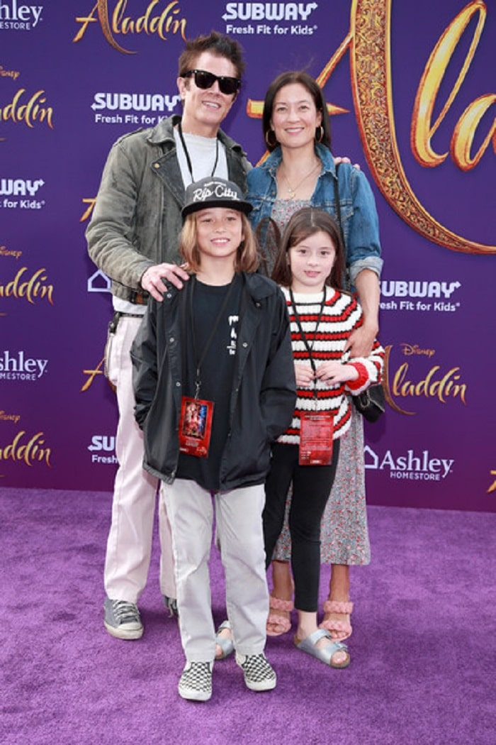 "Arlo with her family on the premiere of ""Aladdin""."