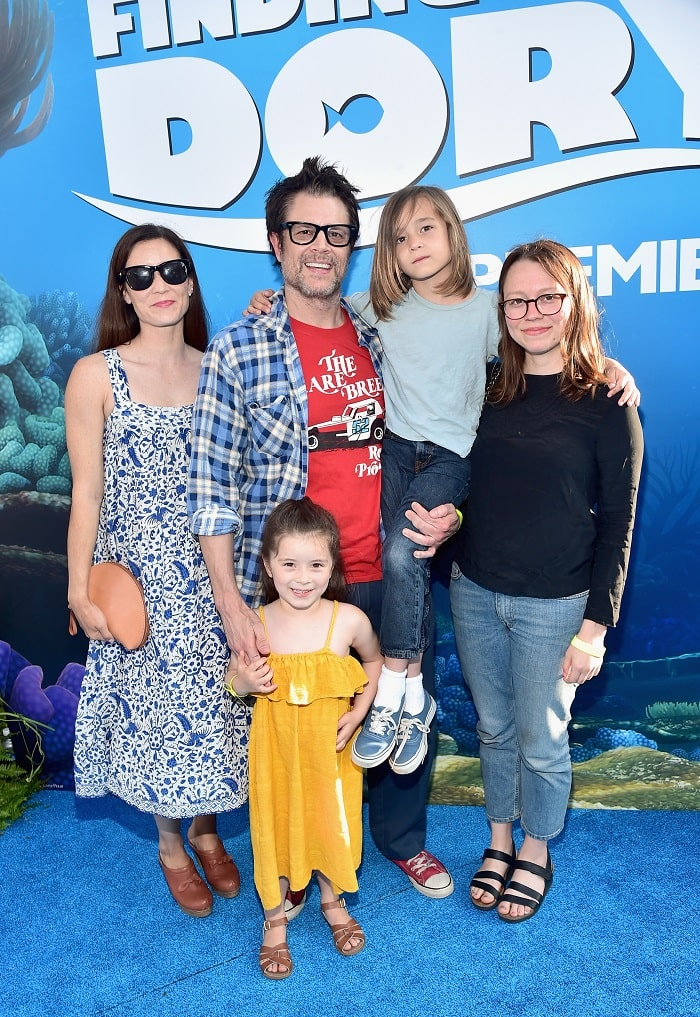 Madison with her new family attending the premier of 'Finding Dory'.