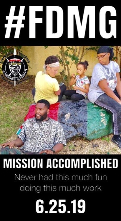 A picture of fund raising campaign's success posted by Dr Umar Johnson.