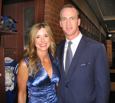 Ashley Thompson and Peyton Manning caught together on camera.