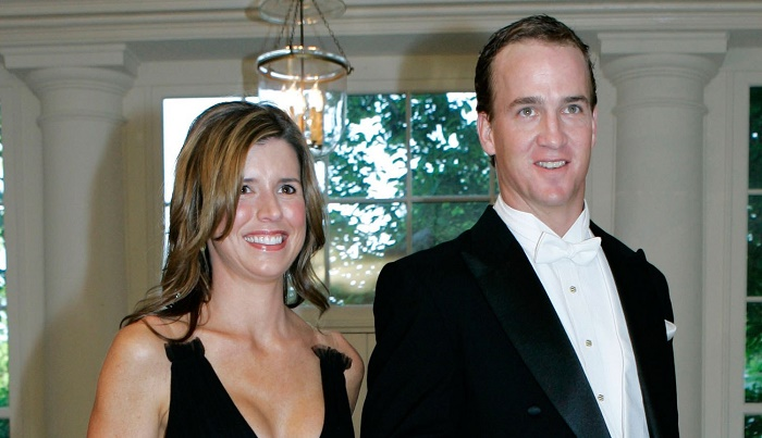 Peyton Manning and his wife Ashley Thompson capture together on camera.