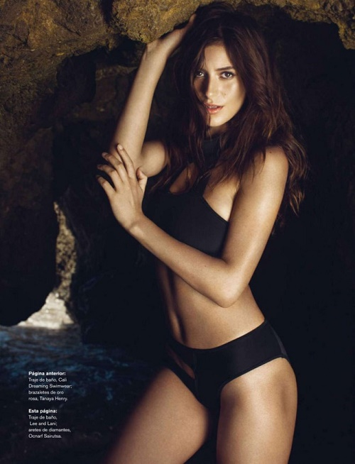 Alejandra Guilmant posing for a shoot for Maxim Mexico.
