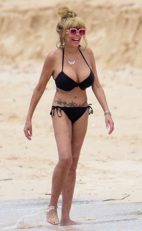 A picture of Wendy Williams in bikini.