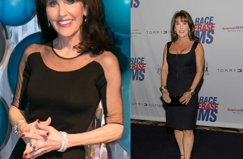 A picture of Robin McGraw before (left) and after (right).