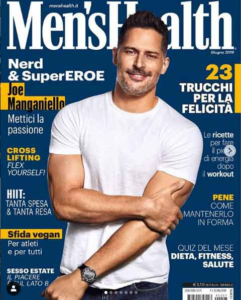 Joe Manganiello picture on the cover of the Men's Health.