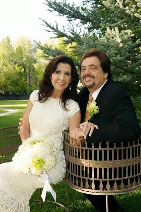 A picture of Jay Osmond with his wife, Karen Randall.